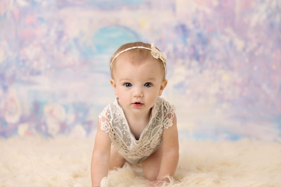 Akron Baby Photographer | Floral Cake Smash Session | Mary ...