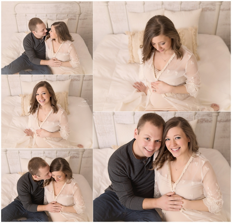 studio maternity session