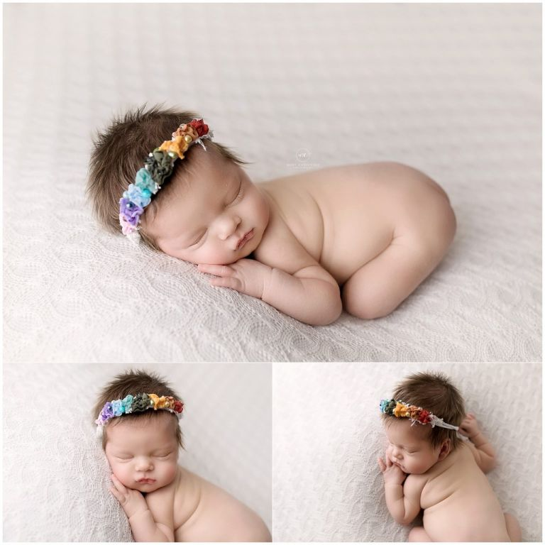 rainbow baby newborn session
